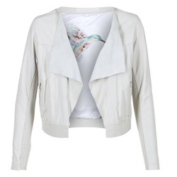 material Women Leather jackets / Imitation le Oakwood 62266 White