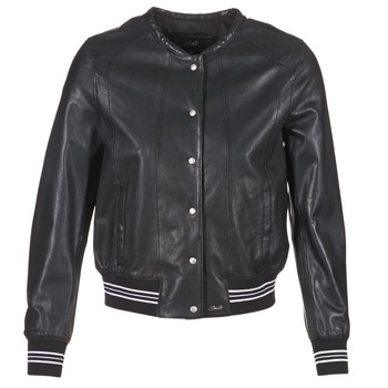 material Women Leather jackets / Imitation le Oakwood 62298 Black