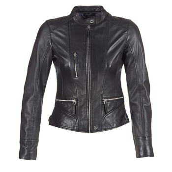 material Women Leather jackets / Imitation le Oakwood 62316 Black