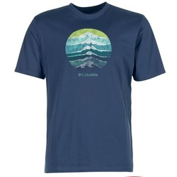 material Men short-sleeved t-shirts Columbia CSC MOUNTAIN SUNSET Blue