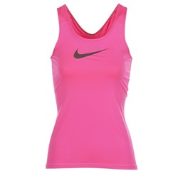material Women Tops / Sleeveless T-shirts Nike NIKE PRO COOL TANK Pink