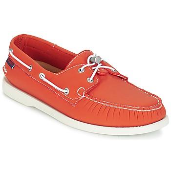 Shoes Men Boat shoes Sebago DOCKSIDES ARIAPRENE Orange / Ariaprene