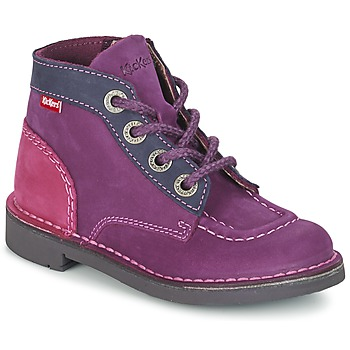 Shoes Girl Mid boots Kickers KICK COLZ Violet / MARINE / Pink