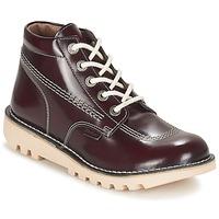 Shoes Women Mid boots Kickers NEORALLYE Bordeaux