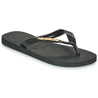 Shoes Women Flip flops Havaianas HAVAIANAS LOGO METALLIC  black / Gold