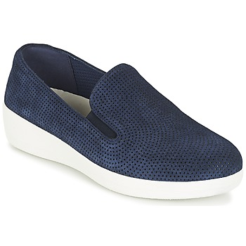 Shoes Women Slip ons FitFlop SUPERSKATE (PERF) Marine