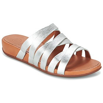 Shoes Women Sandals FitFlop LUMY SLIDE Silver