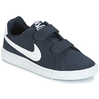 Shoes Children Low top trainers Nike COURT ROYALE PRESCHOOL Blue / White