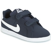 Shoes Children Low top trainers Nike COURT ROYALE TODDLER Blue / White