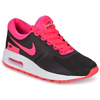 Shoes Girl Low top trainers Nike AIR MAX ZERO ESSENTIAL GRADE SCHOOL Black / Pink