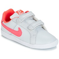 Shoes Girl Low top trainers Nike COURT ROYALE TODDLER Grey / Pink