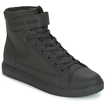 Shoes Men High top trainers Armani jeans JEFEM Black