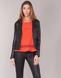 material Women Leather jackets / Imitation le Betty London GADITE Black