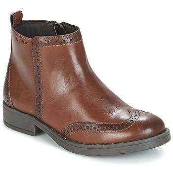 Shoes Girl Mid boots Geox J SOFIA F Brown