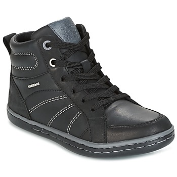 Shoes Boy High top trainers Geox J GARCIA B. B Black / Grey