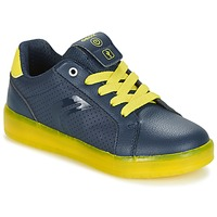 Shoes Boy Low top trainers Geox J KOMMODOR B.B Marine / Yellow