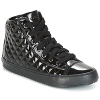 Shoes Girl High top trainers Geox J KALISPERA G.F Black