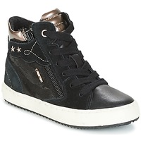 Shoes Girl High top trainers Geox J KALISPERA G.D Black