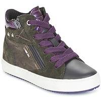 Shoes Girl High top trainers Geox J KALISPERA G.D Grey