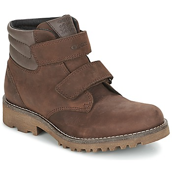 Shoes Boy Mid boots Geox J AXEL B. WPF C Brown