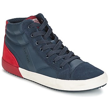 Shoes Boy High top trainers Geox J ALONISSO B. A MARINE / Red
