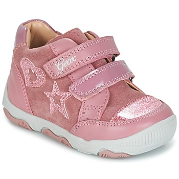 Shoes Girl Low top trainers Geox B N.BALU' G. C Pink