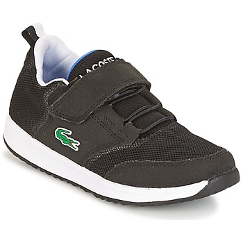 Shoes Boy Low top trainers Lacoste L.IGHT Black / Grey