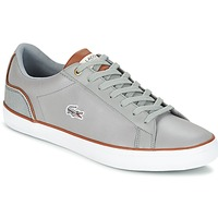 Shoes Men Low top trainers Lacoste LEROND 3 Grey / Brown