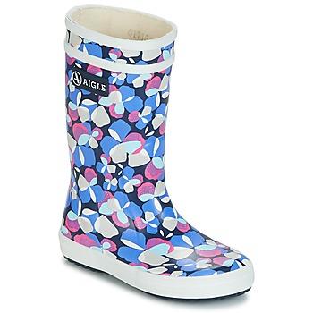 Shoes Girl Wellington boots Aigle LOLLY POP GLITTERY Blue