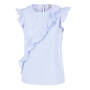 material Women Blouses Morgan MARFIZ Blue / White