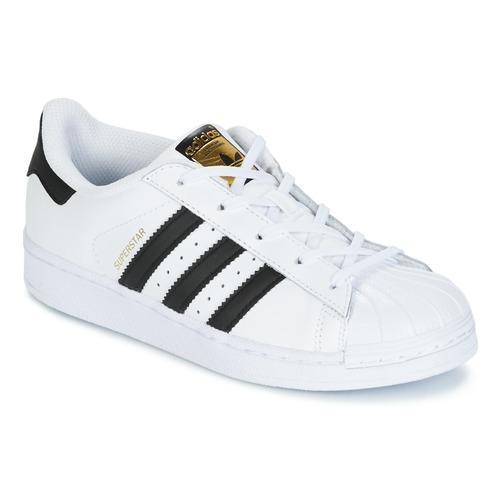 Shoes Children Low top trainers adidas Originals SUPERSTAR White / Black