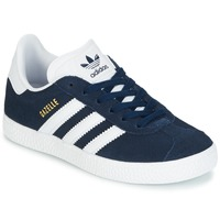 Shoes Boy Low top trainers adidas Originals Gazelle C Marine