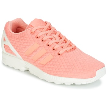 Shoes Women Low top trainers adidas Originals ZX FLUX W Pink / White
