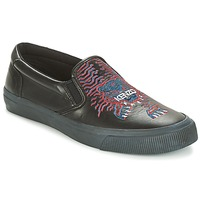 Shoes Men Slip ons Kenzo VELVET Black