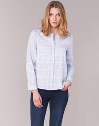 material Women Shirts Casual Attitude GAMOU Blue / White