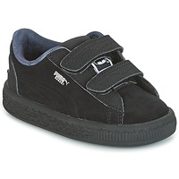 Shoes Boy Low top trainers Puma SUEDE BATMAN V INF Black / Batman