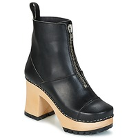 Shoes Women Ankle boots Swedish hasbeens GRUNGE BOOT BLACK Black