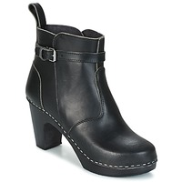 Shoes Women Ankle boots Swedish hasbeens HIGH HEELED JODHPUR Black