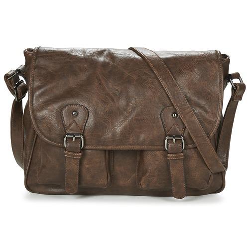 Bags Men Messenger bags Casual Attitude NUDILE Brown