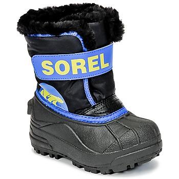 Shoes Children Snow boots Sorel CHILDRENS SNOW COMMANDER Black / Blue