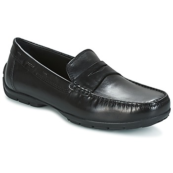 Shoes Men Loafers Geox U MONET W 2FIT Black