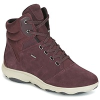 Shoes Women High top trainers Geox D NEBULA 4 X 4 B ABX Bordeaux