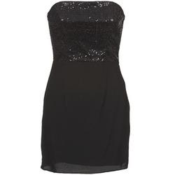 material Women Short Dresses Naf Naf LYCHA Black
