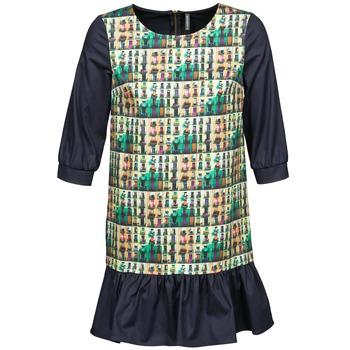 material Women Short Dresses Naf Naf ECAPS Black / Multicoloured