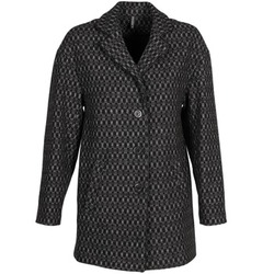 material Women coats Naf Naf AKLAPA Black