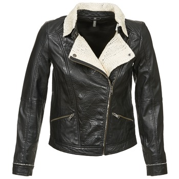 material Women Leather jackets / Imitation le Naf Naf CECO Black