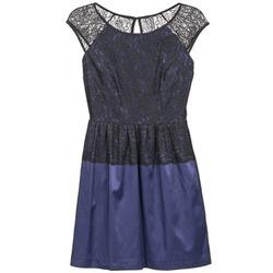 material Women Short Dresses Naf Naf LYLITA Black / MARINE