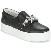 Shoes Women Slip ons Marc Jacobs WRIGHT EMBELLISHED SNEAKER Black