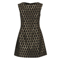 material Women Short Dresses Molly Bracken DIRCO Black / Gold