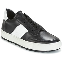 Shoes Men Low top trainers Bikkembergs TRACK-ER 966 LEATHER Black / White
